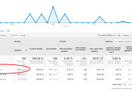 Google Analytics referrer spam příklad