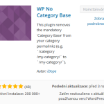"""Tip na WordPress plugin č. 8 – Jak se zbavit """"/category/"""" (WP No Category Base)"""