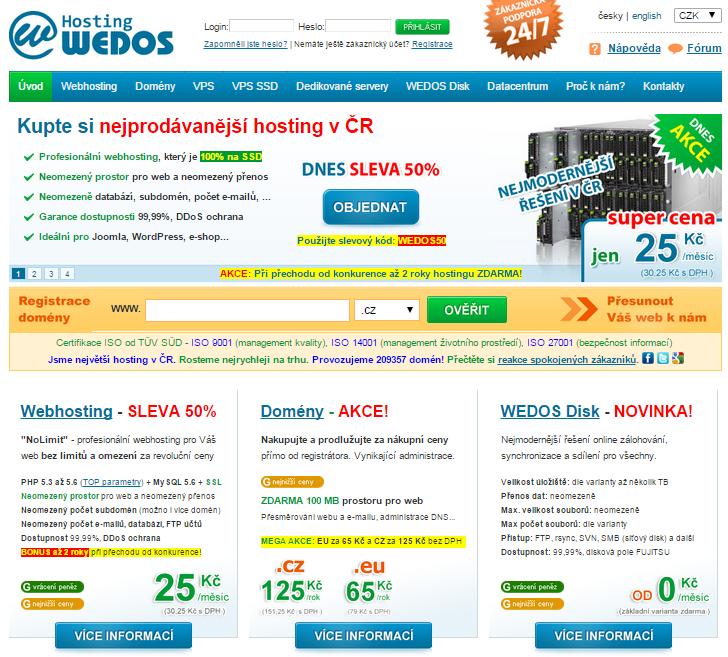 Wedos web