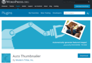 WordPress plugin Auto Thumbnailer