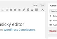 WordPress plugin Classic Editor Klasický editor