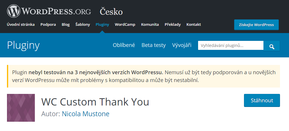 WordPress plugin WC Custom Thank You