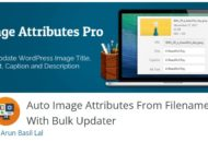 WordPress Auto Image Attributes From Filename