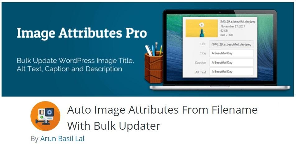 WordPress Auto Image Attributes From Filename