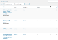 WordPress zmeškana publikace